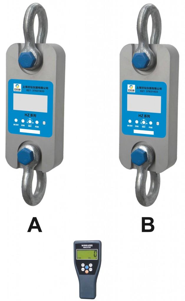 HZ-WD双通道遥控拉力计/双量程测力仪器